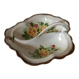"Royal Albert ""Tea Rose"" Leaf Shaped Dish For Sale"