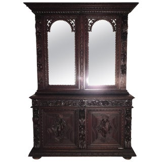 19th Century French Victorian Walnut Cupboard For Sale