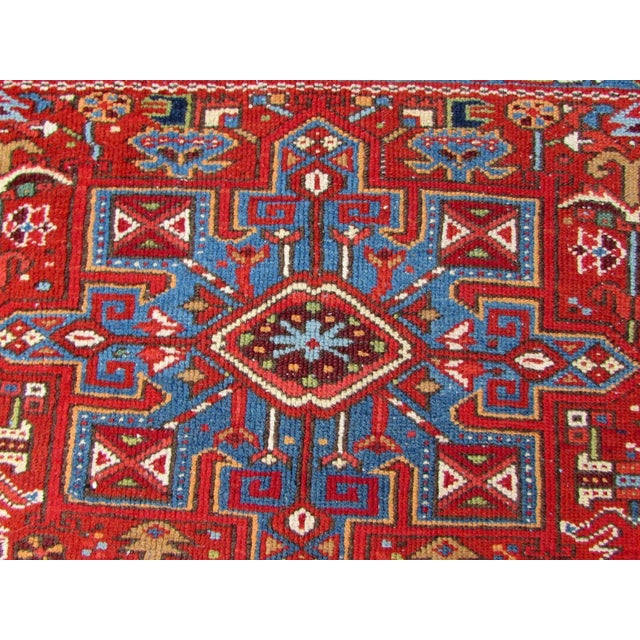 Red 1920s, Handmade Antique Persian Heriz Rug 4.9' X 6.1' For Sale - Image 8 of 11