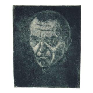 Johannes Fischer Secessionist Self-Portrait Etching on Paper, Circa 1920 For Sale