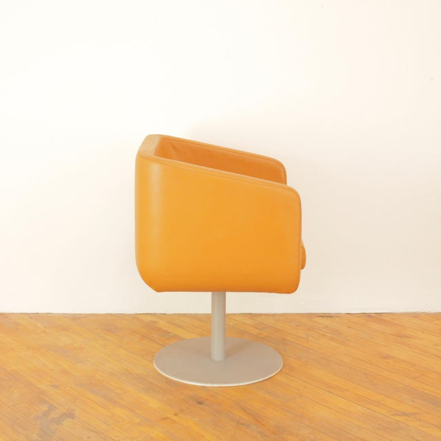 Late 20th Century Late 20th Century Loewenstein Cube Swivel Chairs - a Pair For Sale - Image 5 of 11