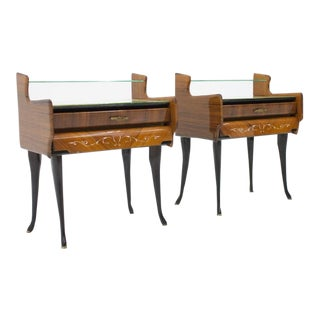 Pair of Bed Side Tables Night Stands With Horse Legs, Italy, 1959 For Sale