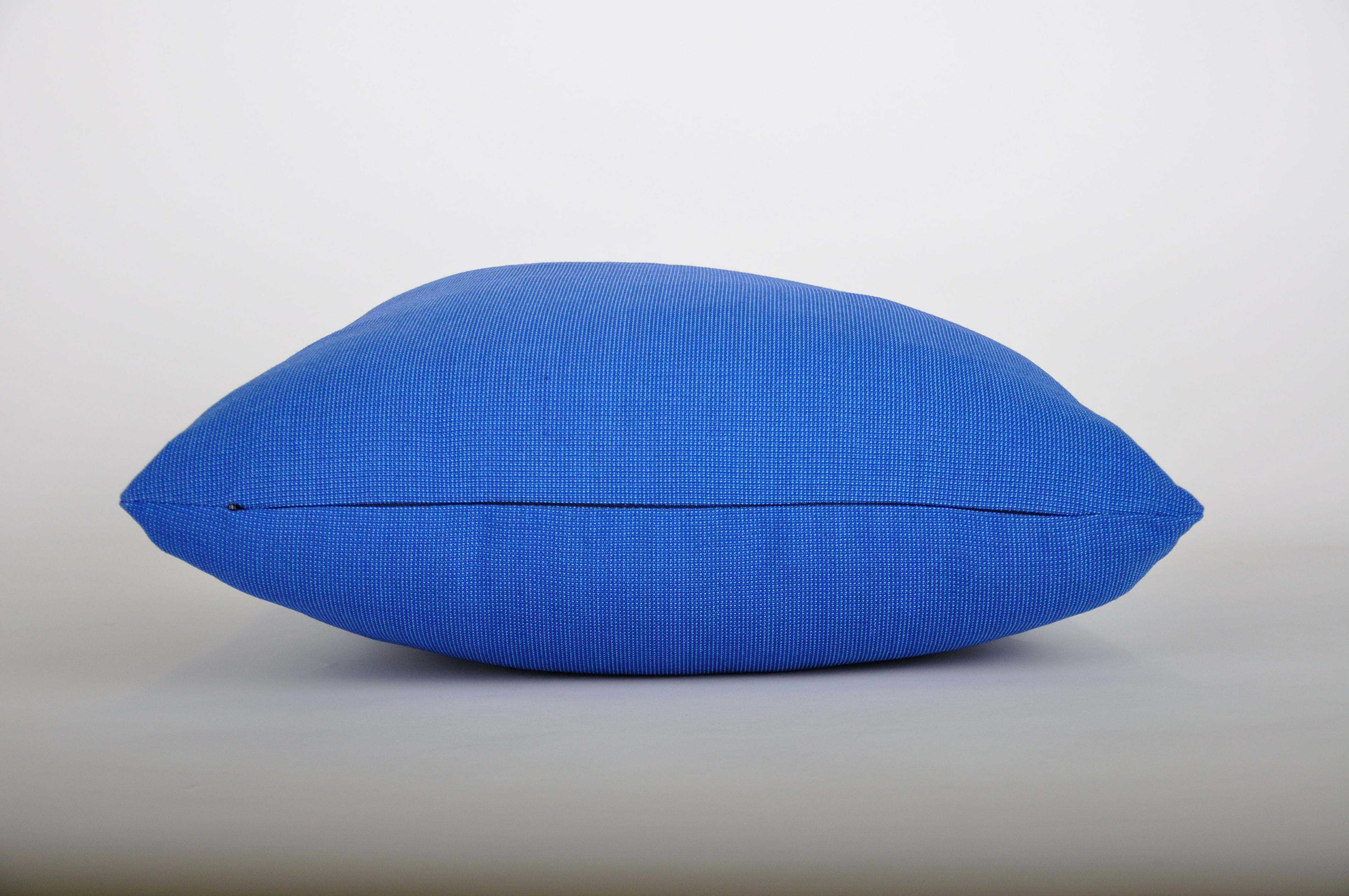 18 Raspberry Red Wool and Poly Blend Knoll Pillow