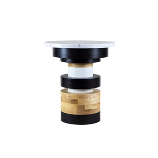 """Contemporary Ettorre Sottsass Sass Style Side Table - 14"""" For Sale"""