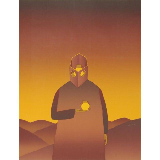 The Thinker, Serigraph by Jean-Michel Folon For Sale