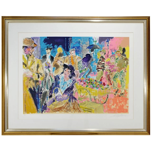 Mid-Century Modern Leroy Neiman Litho Signed Numbered 1/300 My Fair Lady Framed For Sale
