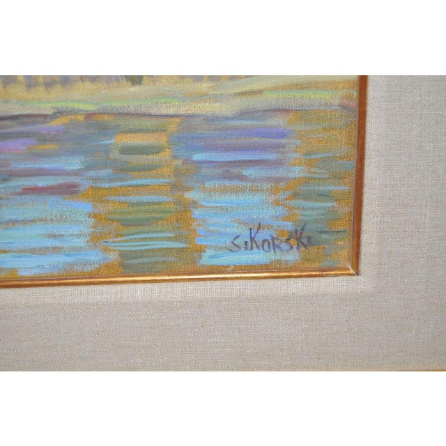Vintage Impressionist Painting by Eva Sikorski For Sale - Image 4 of 8
