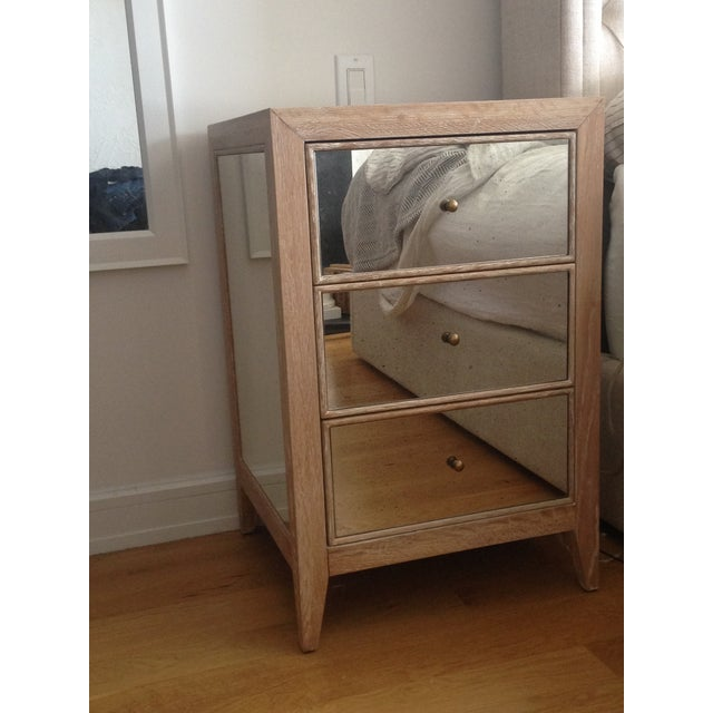 Made Goods Mirrored Mia Nightstand - Image 2 of 4
