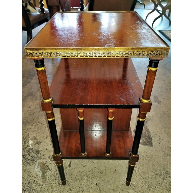 Gold Empire Style Canterbury Side Table For Sale - Image 8 of 13