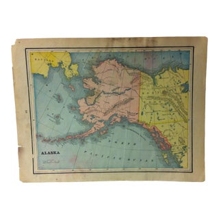 "1940 Vintage Map Print ""Alaska"" For Sale"