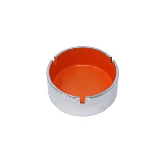 Orange Isamu Kenmochi Plastic and Chrome Ashtray For Sale