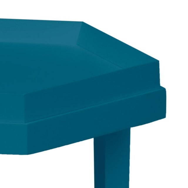 This is a made to order item and we offer the ability to customize color. The hexagonal table can be a side table or...
