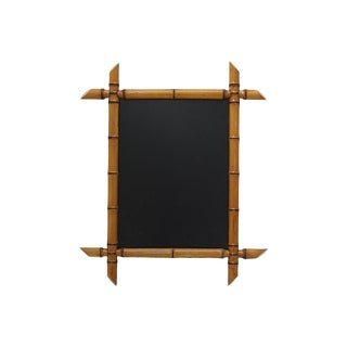 Antique French Bamboo Framed Chalkboard For Sale