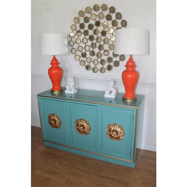 Hollywood Regency Lacquered Credenza or Sideboard For Sale - Image 4 of 11