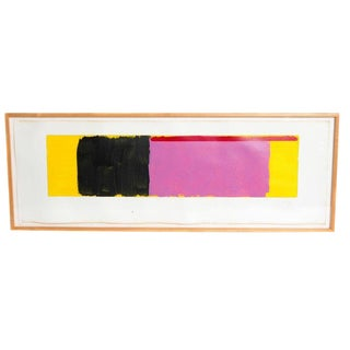 Minimalist Oil on Paper by Doug Ohlson (1936-2010) American For Sale