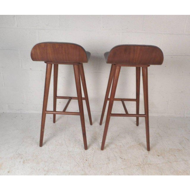 Contemporary Contemporary Modern Bar Stools - A Pair For Sale - Image 3 of 8