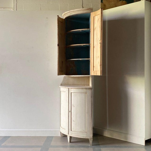Mid 19th Century Antique Gustavian Corner Cabinet For Sale - Image 5 of 13