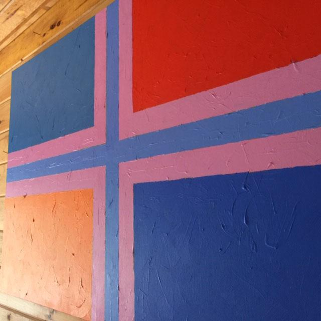 "Contemporary ""Flag"" painting. Part of a series painted in 2020. Acrylic on canvas. 30""'x48""."