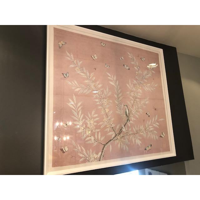 Asian Chinoiserie Art in Blush Print from Kenneth Ludwig Home For Sale - Image 3 of 11