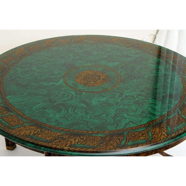 Fornasetti Style Glass & Metal Cocktail Table For Sale - Image 10 of 11