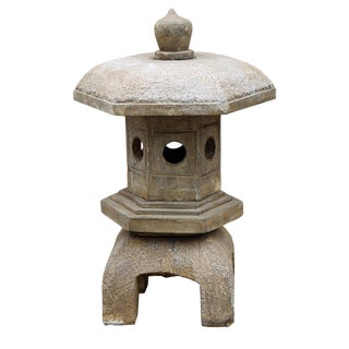Chinese Hexagon Stone Garden Lantern For Sale