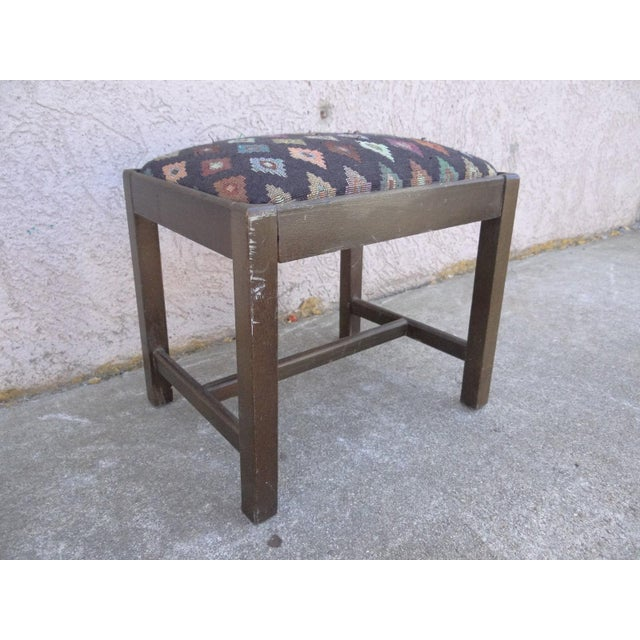 An antique Chippendale style salesman's sample doll footstool. Nice shape tight and sturdy. some scratches and wear.