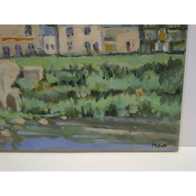 """Late 20th Century 20th Century Contemporary Original Framed Painting on Canvas, """"The Village"""" by Frederick McDuff For Sale - Image 5 of 7"""