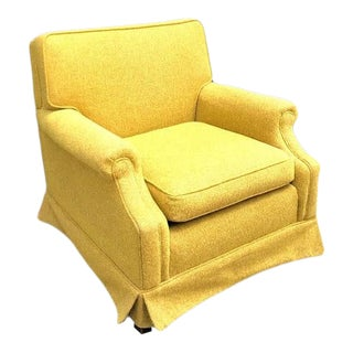1950s Mid Century Gold Tweed Armchair For Sale