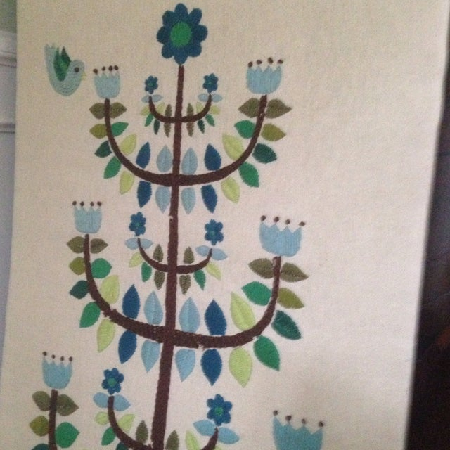 Vintage Tree of Life Textile Wall Art - Image 4 of 11
