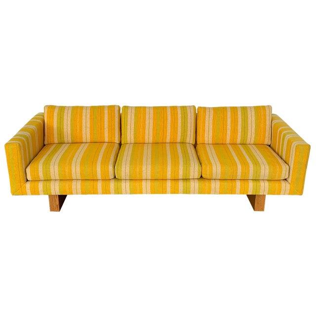 Harvey Probber Tuxedo Sofa With Oak Legs For Sale - Image 13 of 13