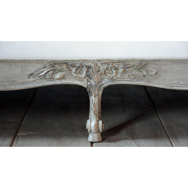 Late 19th Century 19th Century French Louis XV- Style Daybed With Distressed Finish For Sale - Image 5 of 11