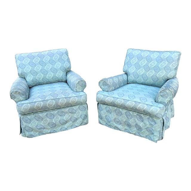 Miraculous Rowe Furniture Slipcovered Swivel Chairs A Pair Machost Co Dining Chair Design Ideas Machostcouk