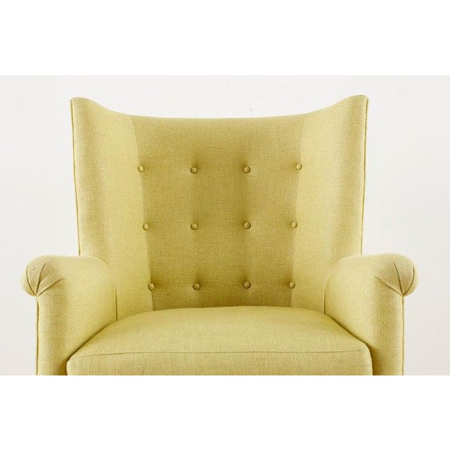 Westcott Citron Linen Wing Chair by Bunny Williams For Sale In San Francisco - Image 6 of 13