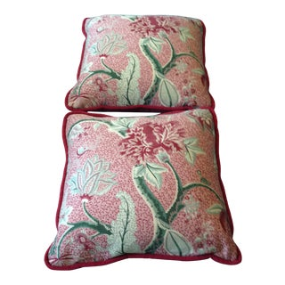 2010s Colorful Floral Pillows - a Pair For Sale