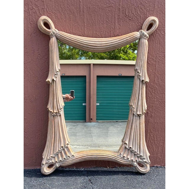 Dorothy Draper Hollywood Regency Swag Mirror After Dorothy Draper For Sale - Image 4 of 4