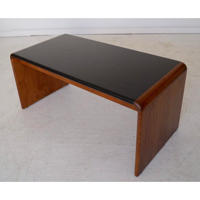 Mid-Century Teak Waterfall Edge Coffee Table - Image 4 of 11