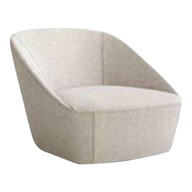 Sphaus Grey Bucket Armchair in Fabric Minimalist Design For Sale