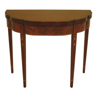 Henkel Harris Inlaid Mahogany Myers Game Table