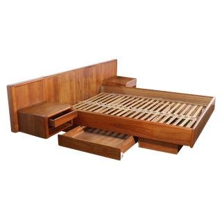 Danish Teak Platform Bed Queen Size