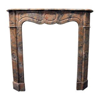 French Pompadour Marble Mantel For Sale