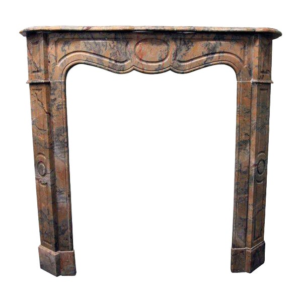 French Pompadour Marble Mantel - Image 1 of 7