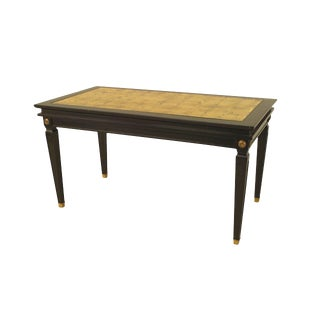 French, 1940s Louis XVI Style Ebonized Coffee Table For Sale