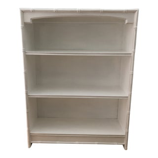 Thomasville Faux Bamboo Bookcase For Sale
