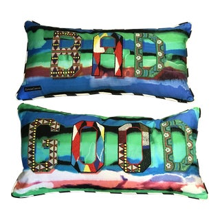 """Christian Lacroix """"Bad Is Good!"""" Pillows - A Pair"""