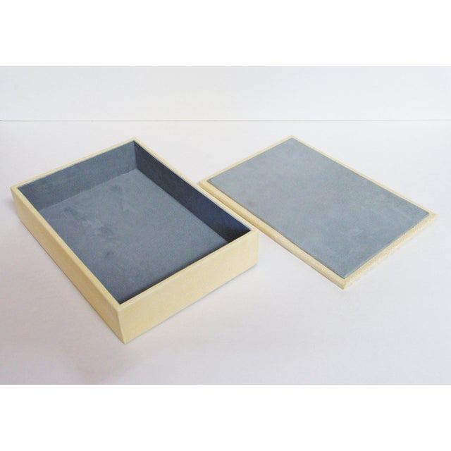 Ivory and Brown Shagreen Box For Sale In Palm Springs - Image 6 of 7