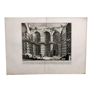 """1760 Traditional Print, Piranesi Engraving of """"Crypt of Free Men"""" For Sale"""