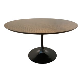 "Mid Century Modern Eero Saarinen Walnut Top Tulip Dining Table - 54"" For Sale"