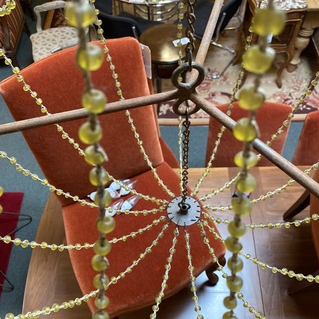 Mid 20th Century 1940's French Six Light Chandelier For Sale - Image 9 of 13