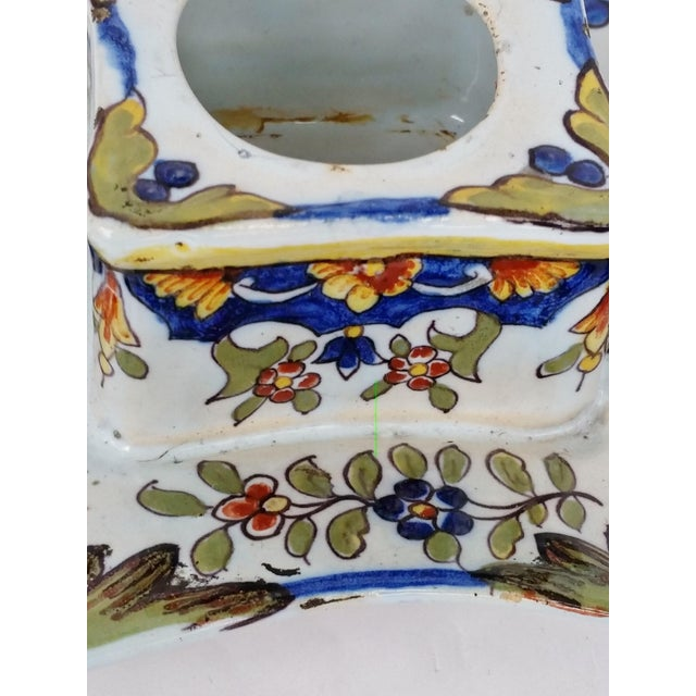 19th C French Faience Inkwell - Image 3 of 8