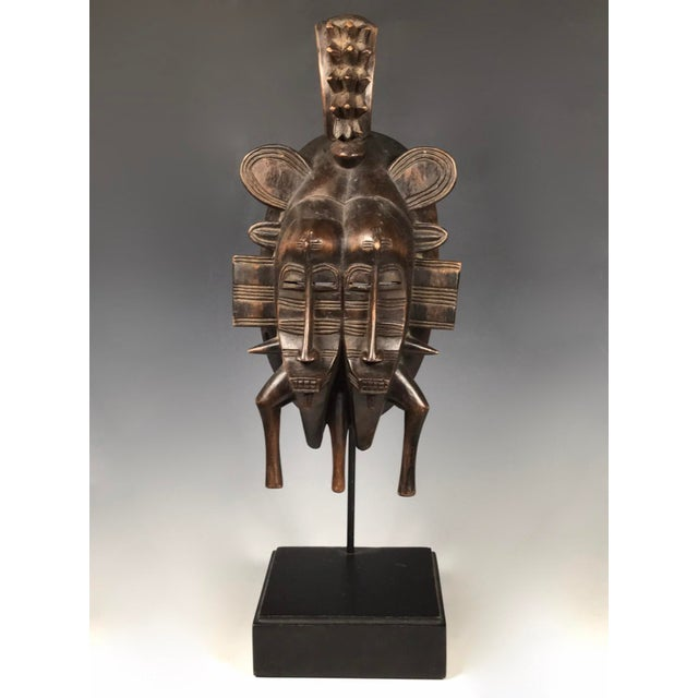 African Art Double Face Senufo Mask For Sale In New York - Image 6 of 7